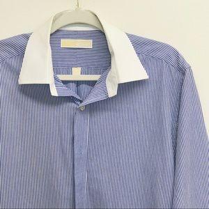 MICHAEL Michael Kors Blue Striped Blue / White Top